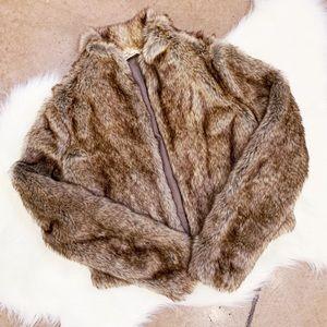Hollister Faux Fur Jacket, XS